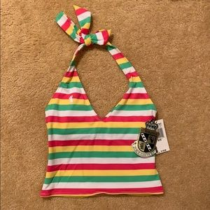 Juicy Couture Swim - NWT Juicy Couture striped tankini top